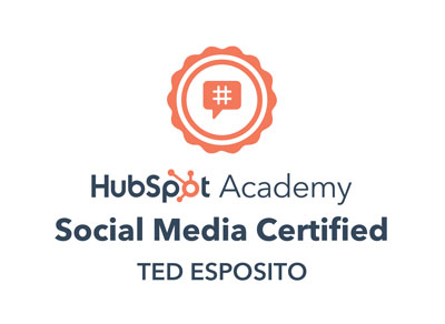 Ted Esposito Hubspot Academy Social Media Certification